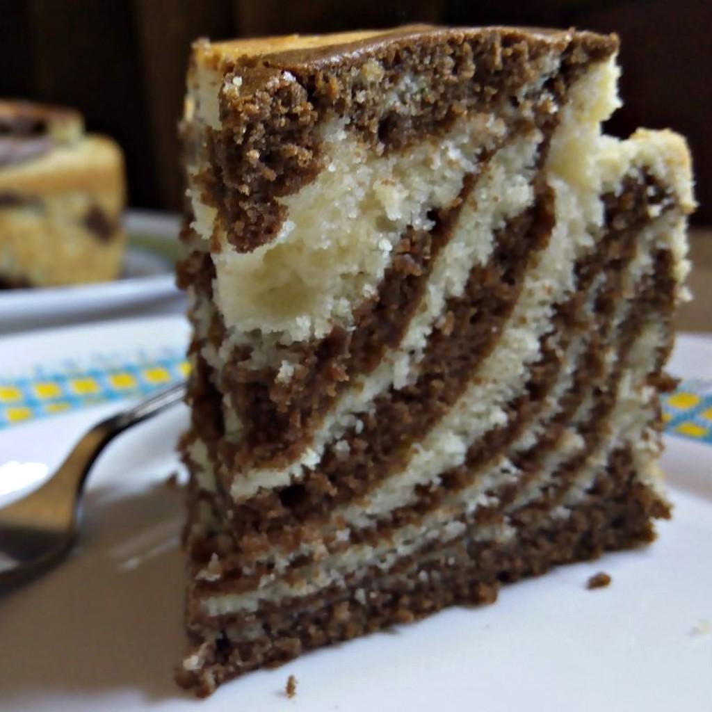 Pound Cake with Zebra Stripes