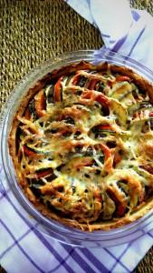 Healthy Snack Zucchini Tomato Eggplant Pie