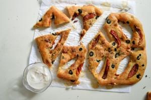 Bread appetizers- Stuffed Fougasse