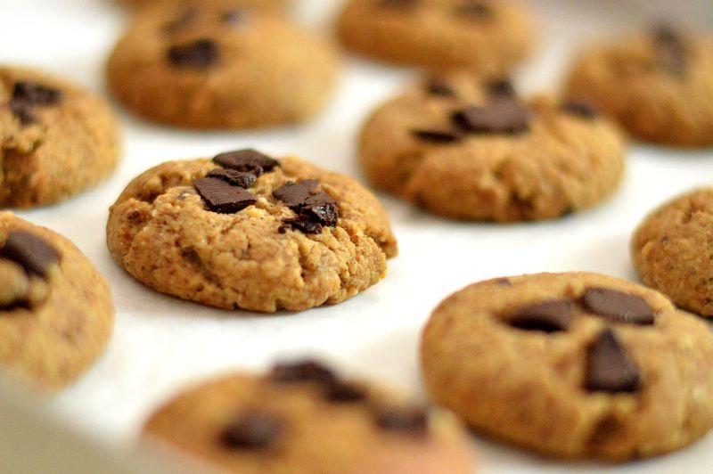 Eggless Mocha Chocolate Chunk Cookies