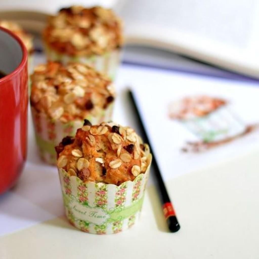 Banana oats muffins Eggless Recipe