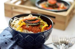 Ratatouille Maggi in a bowl