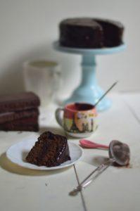 Extra moist chocolate cake