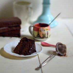 How do I bake my chocolate cake extra moist