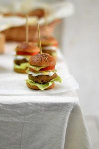 Multigrain mini burger buns