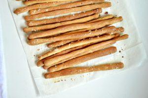 Whole wheat soup bread sticks