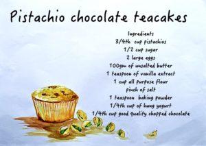 food doodles Pistachio Chocolate Teacakes infographics