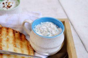 Spinach and kale yogurt dip