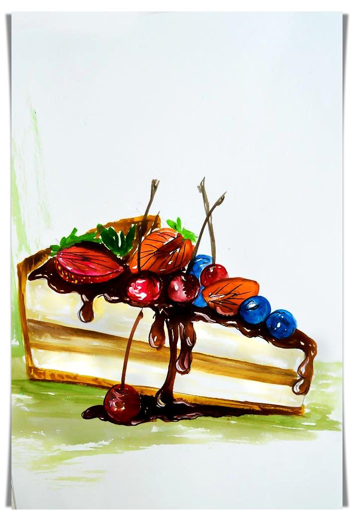 Cake Slice food sketch