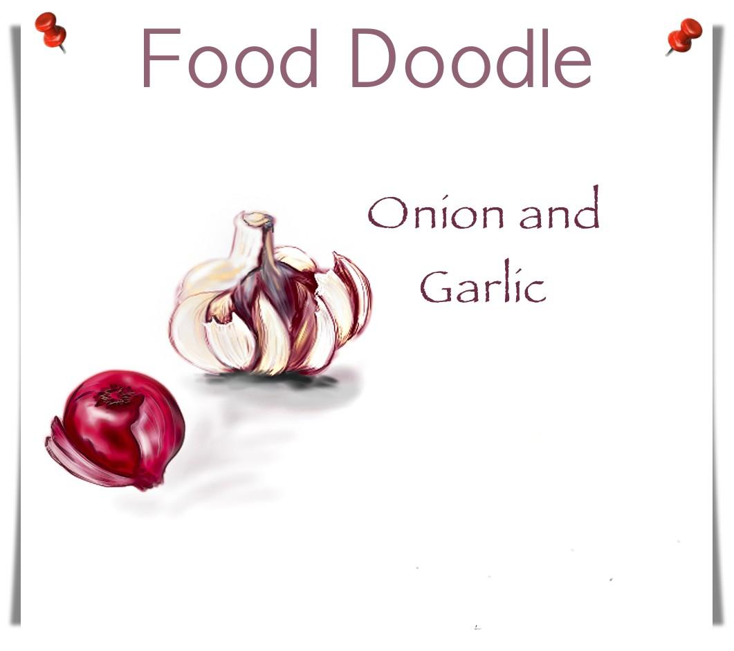 Onion Garlic Drawing
