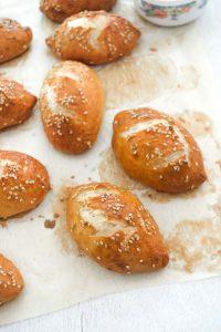Soft Pretzel Buns Easy Recipe