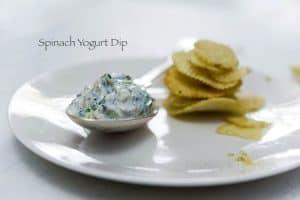 Spinach yoghurt dip