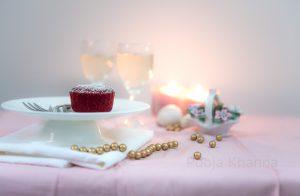 Red Velvet Lava Cake food photography