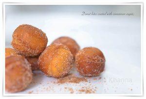 Cinnamon sugar donuts food styling