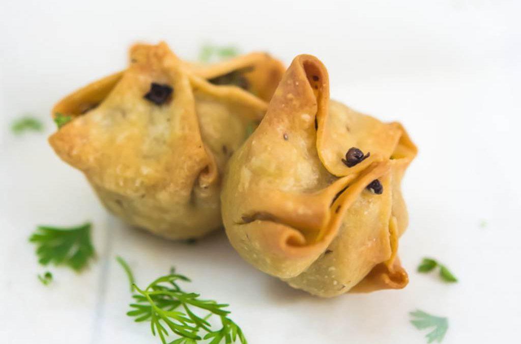 Baked Samosa food styling