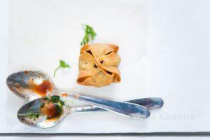 Baked Samosa Cups food photography