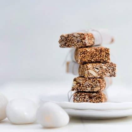 Puffed Amaranth Energy Bars food styling