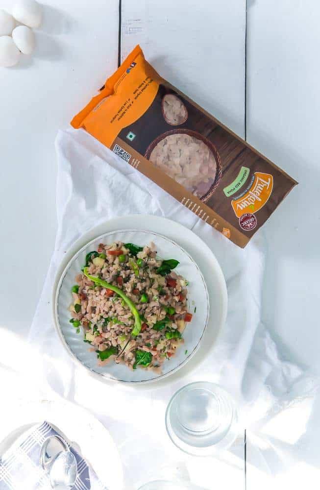 Red Rice Poha Recipe