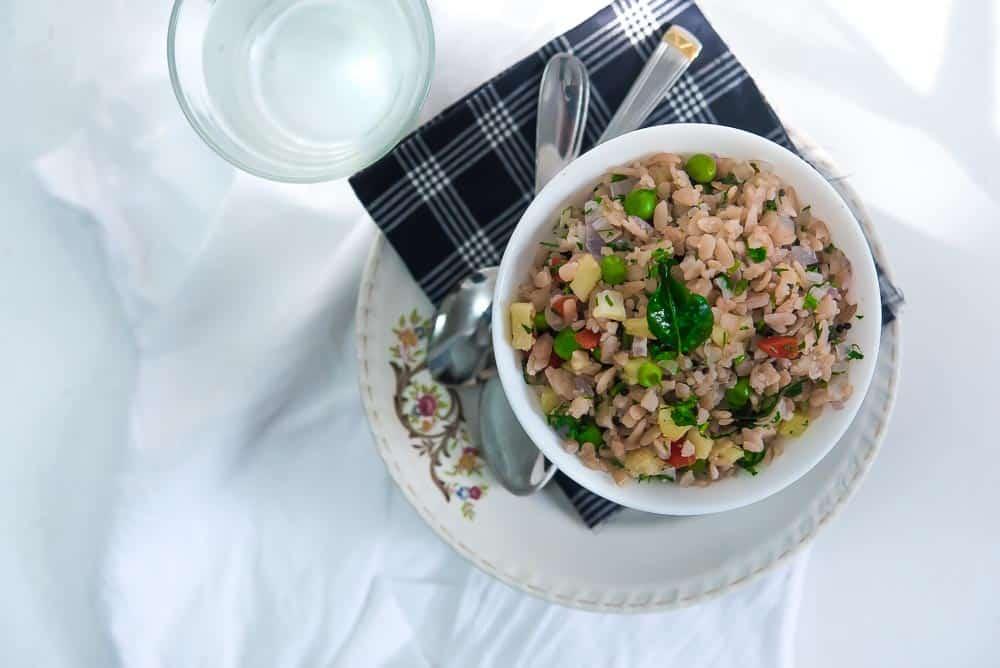 Red Rice Poha food photography