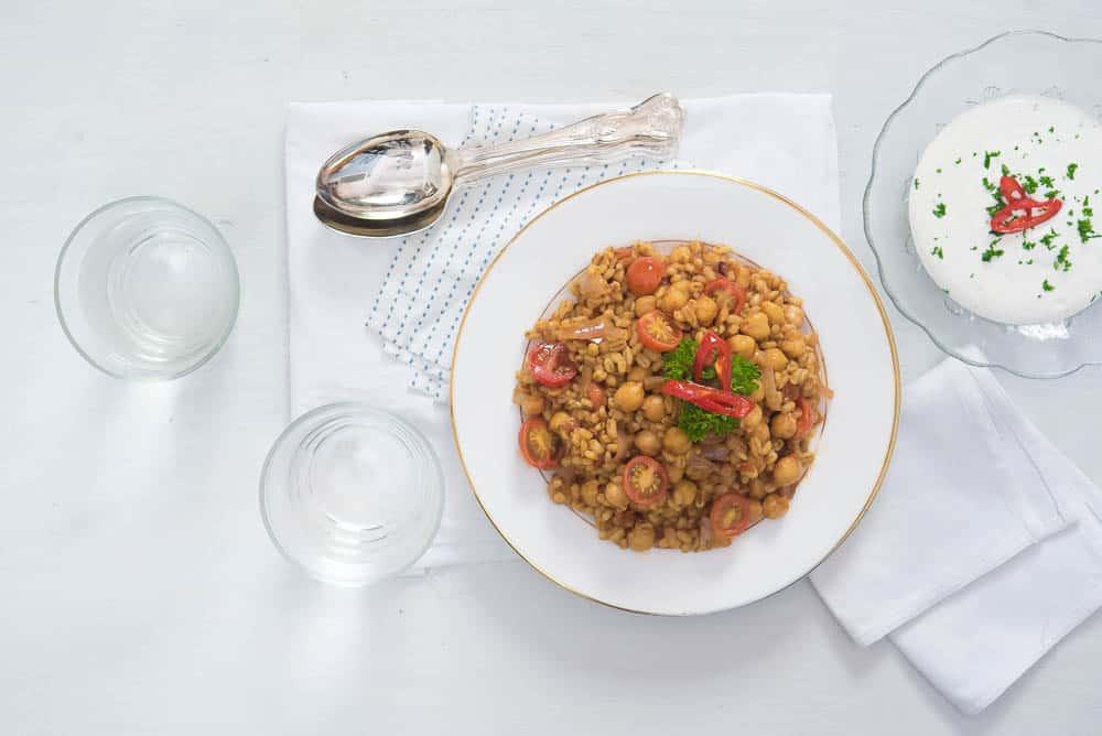 Barley Chickpea Pulao food styling