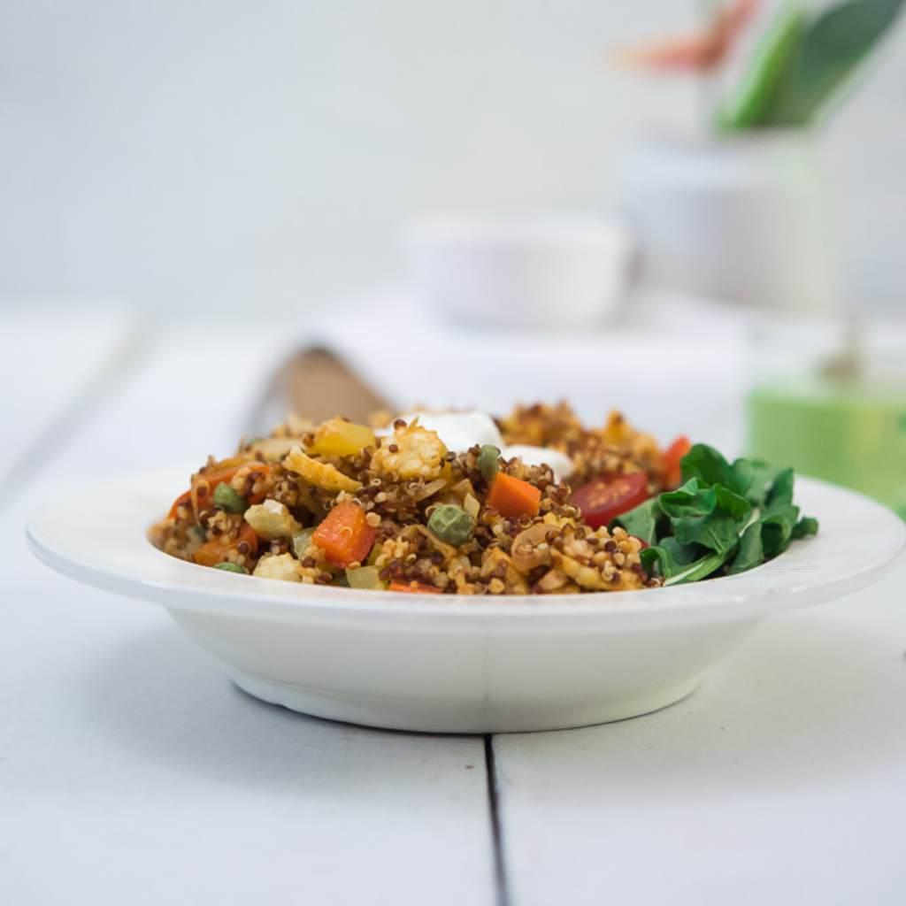 Red Quinoa Breakfast Bowl