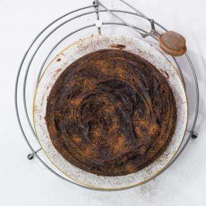 Chocolate Fudge Cake Eggless Recipe
