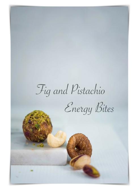 Fig and Pistachio Energy Bites