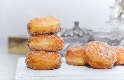 Raspberry Jam Eggless Donuts