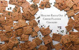 Low-cal Ragi Oat Cheese Crackers