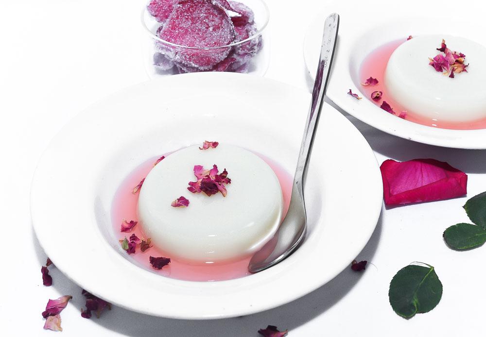 White Chocolate Rose Pannacotta