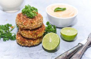 Lentil Broccoli Kababs with Tandoori Yogurt Mayo