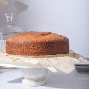 Eggless Semolina Almond Cake