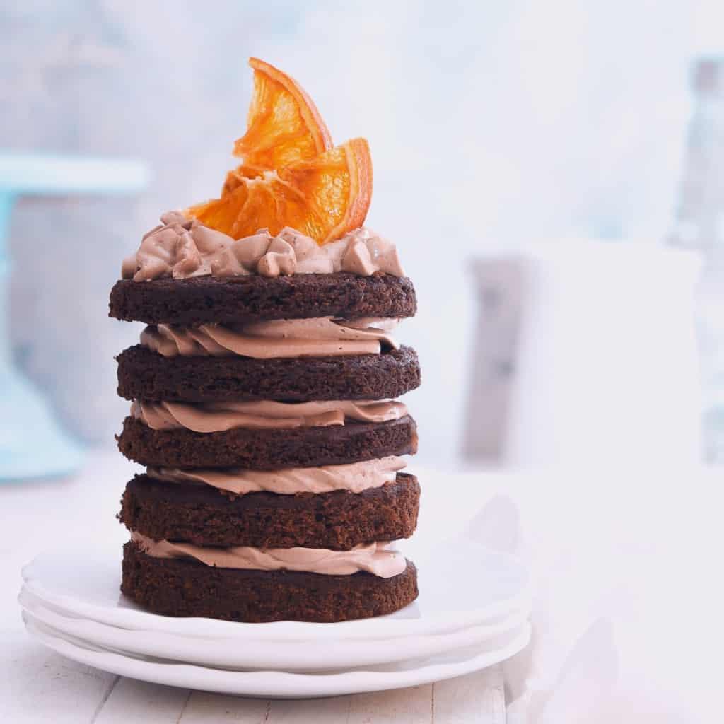 Eggless Orange Chocolate Cake