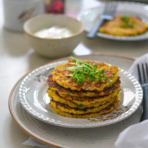 Savoury Corn Pancakes